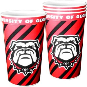 Georgia Bulldogs Plastic Cups 4ct