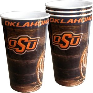 Oklahoma State Cowboys Plastic Cups 4ct