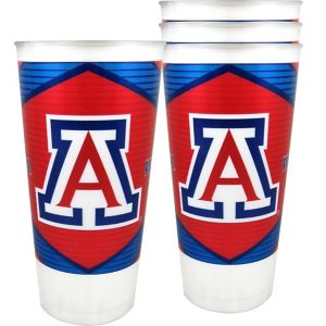 Arizona Wildcats Plastic Cups 4ct