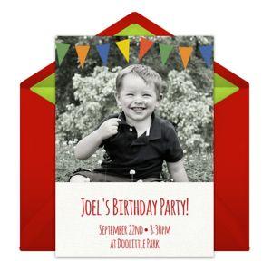 Online Birthday Photo Banner Photo Invitations