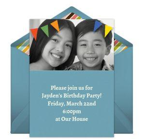 Online Banner - Blue Photo Invitations