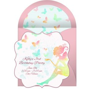 Online Butterfly Fairy Invitations