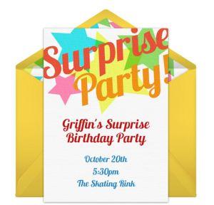 Online Surprise Stars - White Invitations