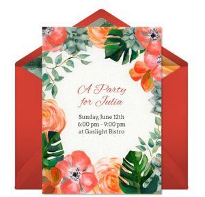 Online Summer Garden Invitations