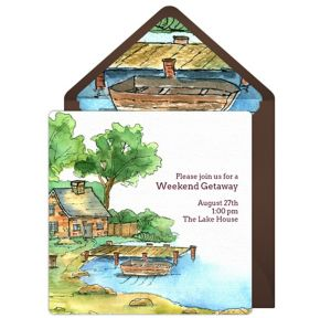 Online Lake House Invitations