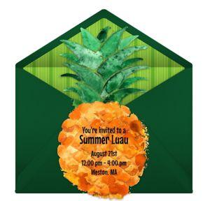 Online Pineapple Diecut Invitations