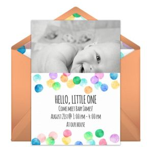 Online Hello Little One Photo Invitations