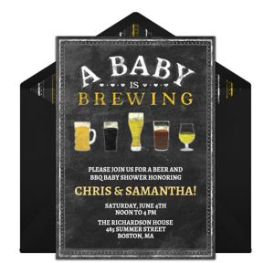 Online A Baby is Brewing Invitations