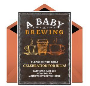 Online Coffee Baby Shower Invitations