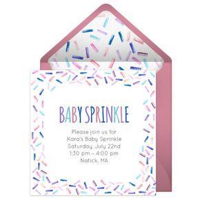 Online Baby Sprinkle - Pink Invitations