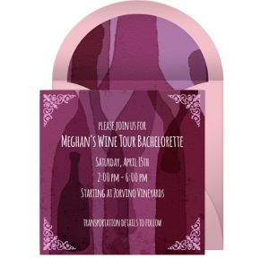 Online Wine Bachelorette Invitations