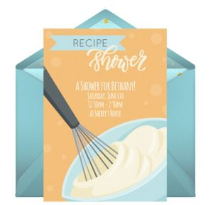 Online Recipe Shower Invitations