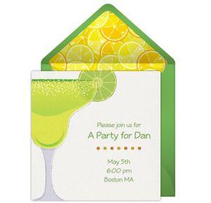 Online Margarita Toast Invitations
