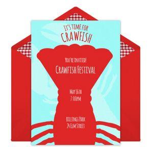 Online Crawfish Invitations
