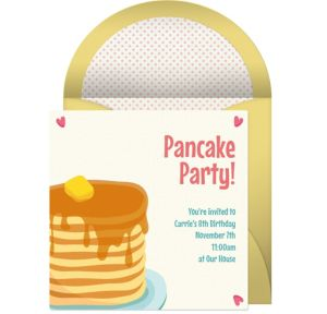 Online Pancakes Invitations