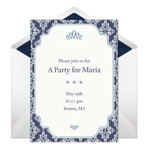 Online Formal Border - White Invitations