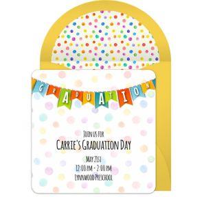 Online Colorful Graduation Banner Invitations