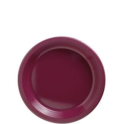 Berry Plastic Dessert Plates 20ct