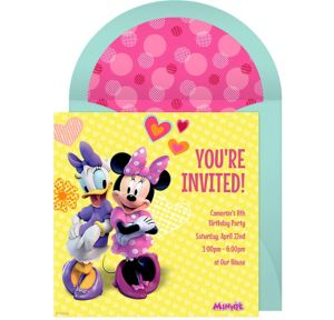 Online Minnie and Daisy Invitations