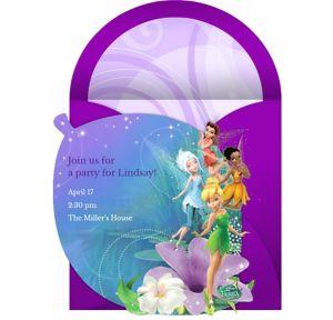 Online Disney Fairies Invitations