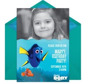 Online Finding Dory Photo Invitations