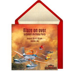 Online Planes Fire Rescue Invitations