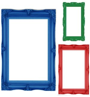 Primary Color Photo Booth Frames 3ct