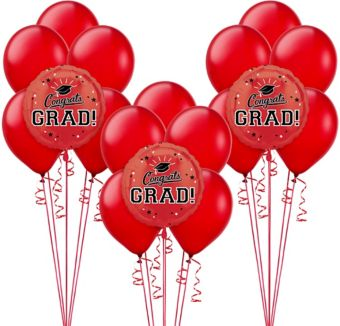 Red Graduation Balloon Kit