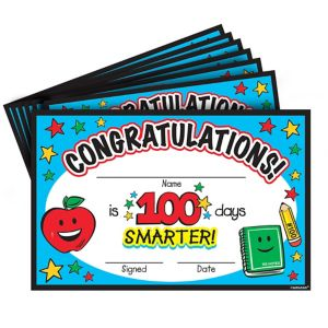 100th Day of School Certificates 36ct