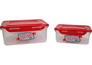 Ohio State Buckeyes Snap Lock Container Set with Lids 2pc