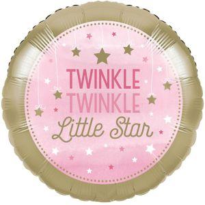 Pink Twinkle Twinkle Little Star Balloon