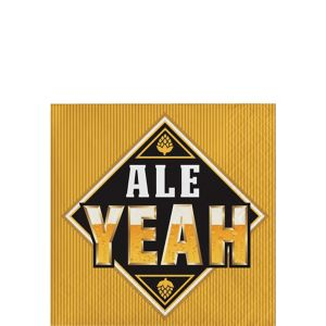 Ale Yeah Beverage Napkins 16ct