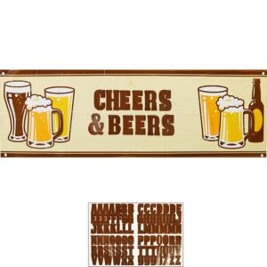 Cheers & Beers Personalized Banner Kit