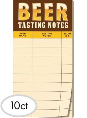 Beer Tasting Note Sheets 30ct