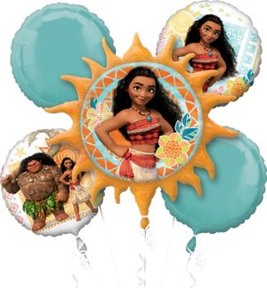 Moana Balloon Bouquet 5pc
