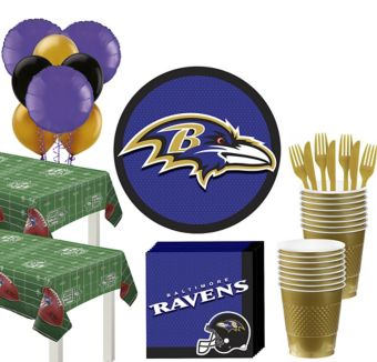 Baltimore Ravens Deluxe Party kit for 36 Guests
