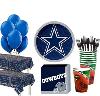 Dallas Cowboys Deluxe Party kit for 36 Guests