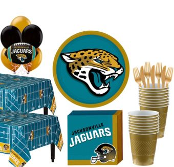 Jacksonville Jaguars Deluxe Party kit for 36 Guests