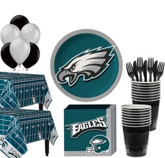 Philadelphia Eagles Deluxe Party kit for 36 Guests