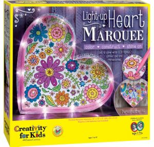 Light-Up Heart Marquee Craft Kit 26pc