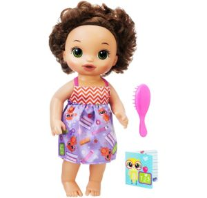 Brunette Ready for School Baby Doll 3pc