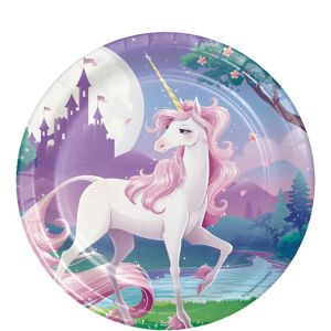 Unicorn Dessert Plates 8ct