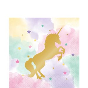 Sparkling Unicorn Lunch Napkins 16ct