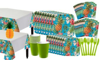 Aloha Hawaiian Basic Party Kit for 16 Guests