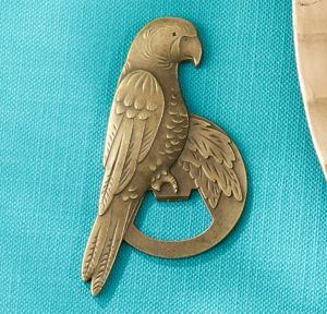 Antique Gold Parrot Bottle Opener