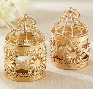 Gold Lantern Tealight Candle Holder