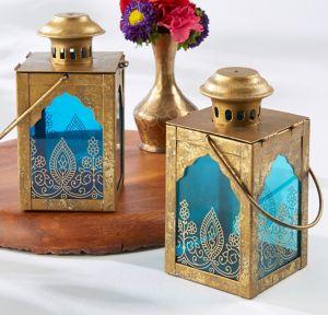 Indian Jewel Lantern Tealight Candle Holder