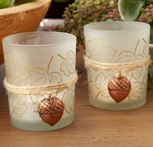 Autumn Leaf Tealight Candle Holders 4ct