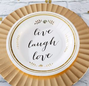 Live, Laugh, Love Lunch Plates 8ct