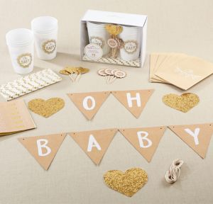 Oh Baby Rustic Baby Shower Kit 73pc